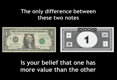 Q. These two notes look the same but one is credit and one is debt, which one is which?