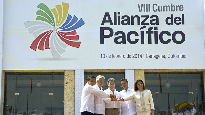 Chile, Colombia, Peru and Mexico have signed a treaty