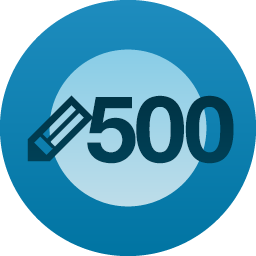 WP Post Milestone of 500-2x