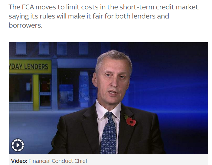The FCA moves to limit costs in the short-term credit market, saying its rules will make it fair for both lenders and borrowers.