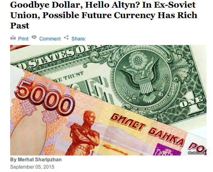 ' Could this be the new currency of the #BRICS in the Eurasian Countries '