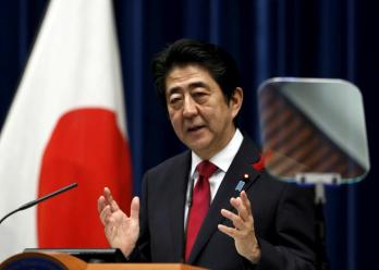 FILE PHOTO Japan's Prime Minister Shinzo Abe speaks during a news conference at his official residence in Tokyo, Japan, October 6, 2015. REUTERS/Yuya Shino/File Photo